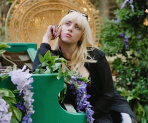 piano, pretty, and singer image
