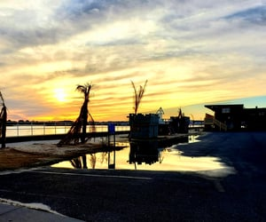 sunset, coastal living, and ocean city image