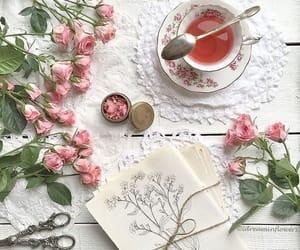 flowers, tea, and lifestyle image