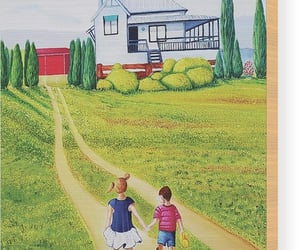 art, painting, and country cottage image