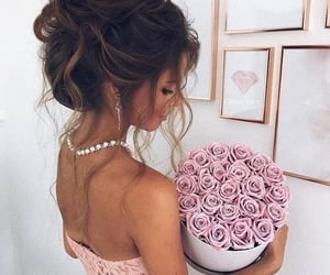 clothes, flowers, and rose image