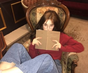 dictionary, reading, and kpop idol image