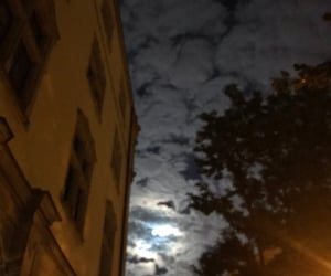 clouds, night, and moon image