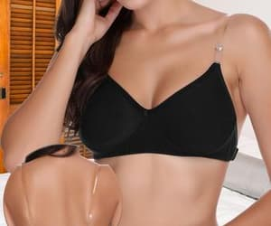 invisible bra, backless bra, and transparent strap bra image