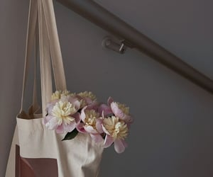 flowers and tote bag image