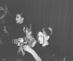 kim kardashian, kendall jenner, and hailey bieber image
