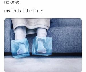 feet, freeze, and frozen image