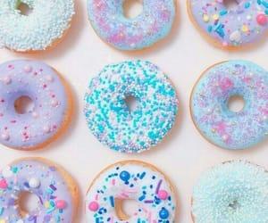 life, pink, and doughnuts image