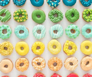 doughnuts, eat, and smile image