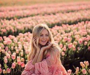 flower, girl, and pinterest image