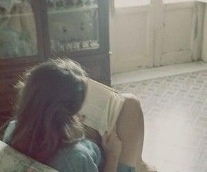 book, sofa, and girl image