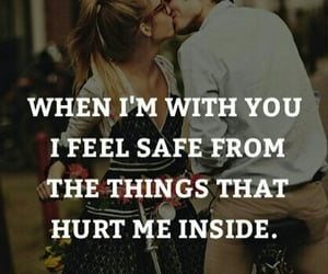 couple, feelings, and quote image