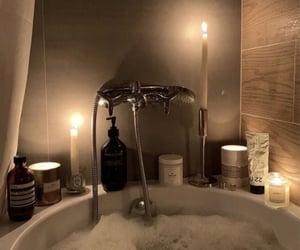 candle, bath, and aesthetic image