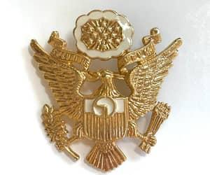 etsy, e pluribus unum, and heraldic brooch image