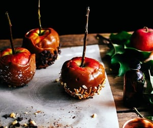 apple, caramel apples, and autumn image