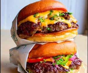 burger, cheese, and cook image