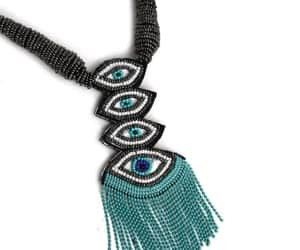 embroidery, handcrafted, and necklace image