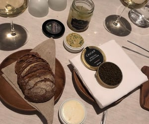 bread, butter, and caviar image
