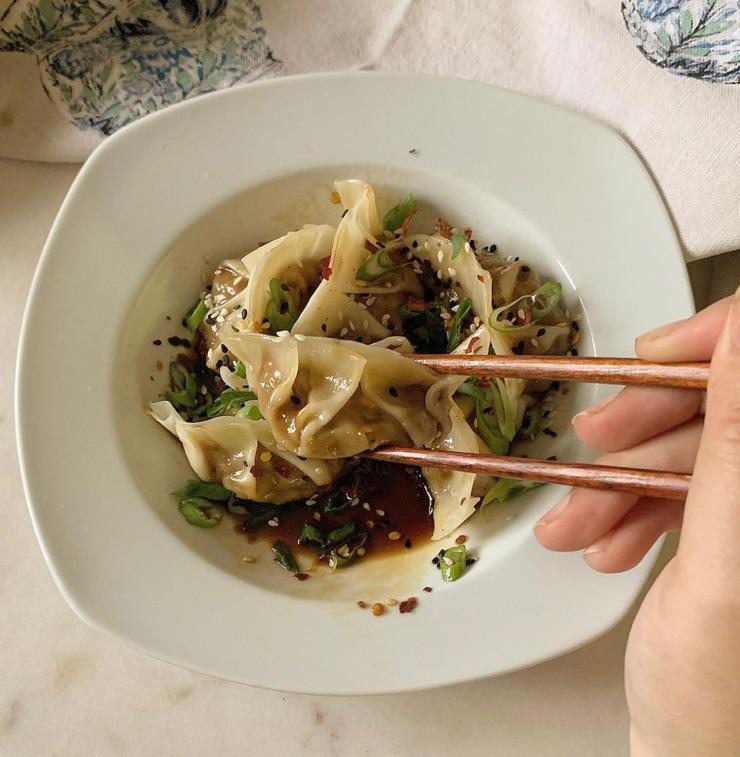 dumplings, food, and healthy image