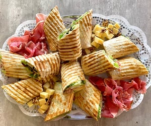 cheese, food, and prosciutto image