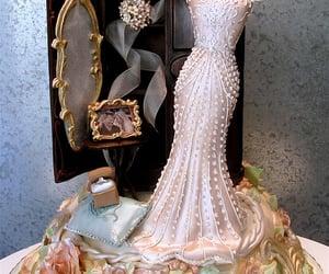 dress, engagement, and wedding image