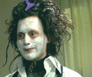 edward scissorhands and black and white image