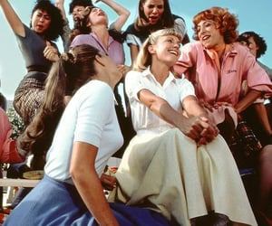 grease, movie, and 70s image
