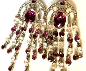 purple, amethyst, and chandelier image