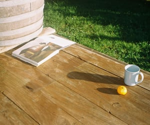 coffee, deck, and grass image