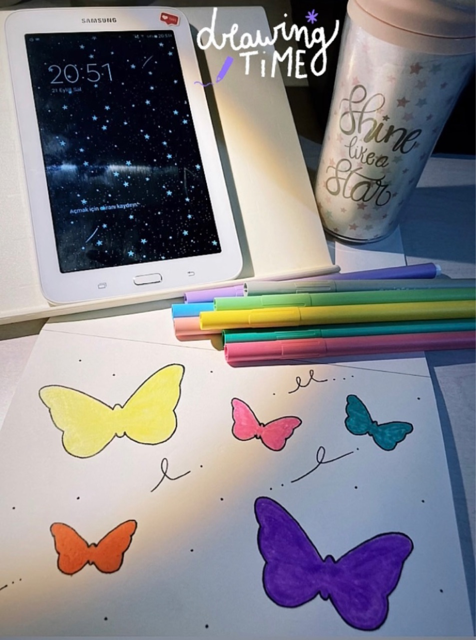 butterfly, drawing, and color image