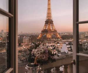 city, france, and window image