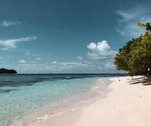 beach, blue, and places image