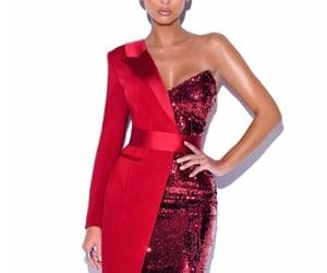 belleza, moda, and rojo image