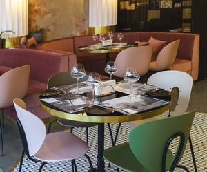 bistro, chairs, and dining image