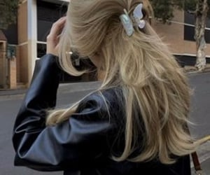 blonde, hairstyle, and longhair image