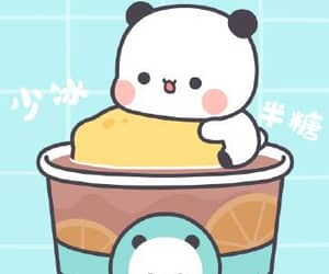 matching, slushy, and panda image