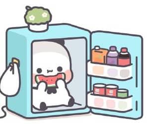 fridge, panda, and matching image