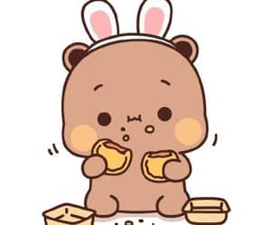 bunny, pfp, and cookie image