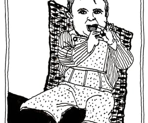 baby, caricatura, and family image