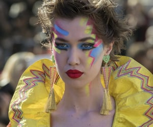 catwalk, eyeliner, and high fashion image