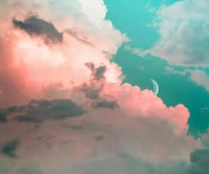clouds, moon, and photography image
