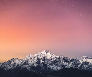 galaxy, landscape, and mountains image