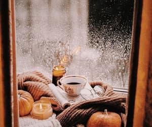 autumn, pumpkin, and candles image