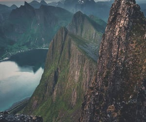 mountains, norway, and travel image