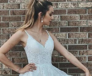 formal wear, homecoming, and lace prom dresses image