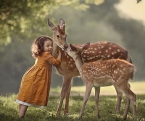 child and deer image