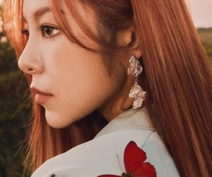 art, red hair, and girlgroup image