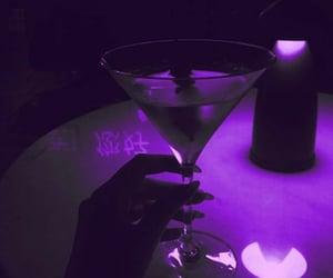 drink, purple, and purple aesthetic image