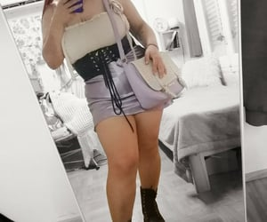 aesthetic, bag, and boots image