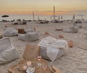 beach, ocean, and dinner image
